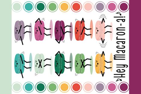 Hey Macaron-a! fabric by nanshizzle on Spoonflower - custom fabric
