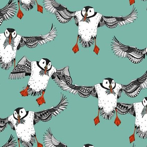 Atlantic Puffins mint small