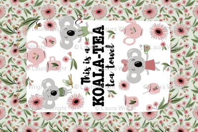 koala tea tea towel