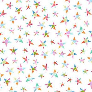 Winter stars  - white