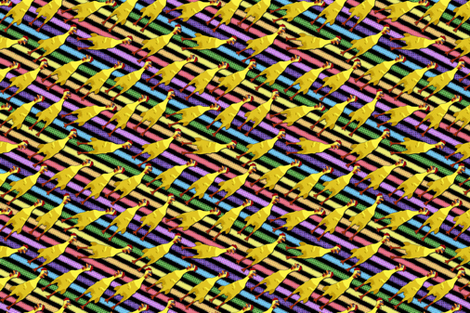 Kamakaze Chickens Tea Towel fabric by engravogirl on Spoonflower - custom fabric