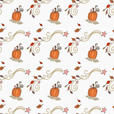 Fall Project 788.4 | Pumpkins and Stars fabric by bohobear on Spoonflower - custom fabric