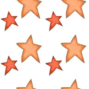 Fall Project 787.2 | Autumn Stars on White