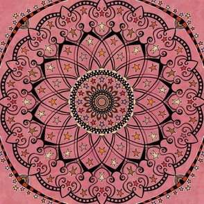 Fall Project 82.9 |  Autumn Star Mandala on Pink