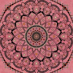 Fall Project 82.9 |  Autumn Star Mandala on Pink