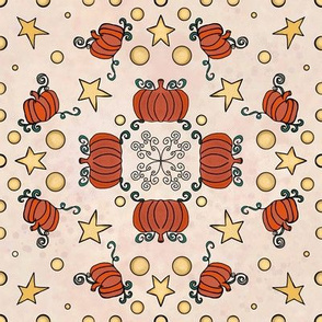Fall Project 786.1 | Pumpkin Pattern on Cream