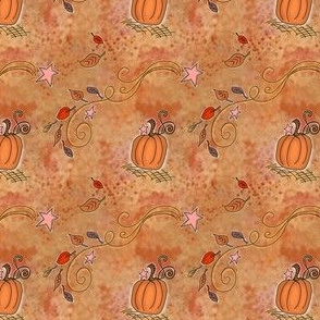 Fall Project 788 | Pumpkins and Stars on White