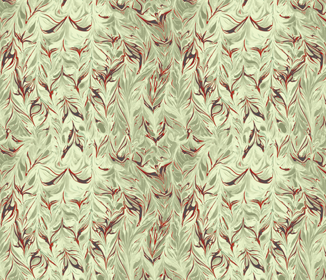marbling-leaf_ivory plaster fabric by wren_leyland on Spoonflower - custom fabric