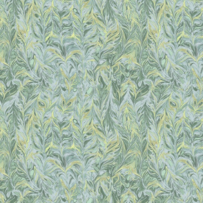 marbling- sky blue forest green