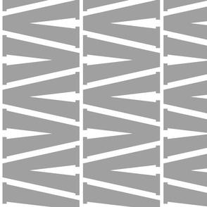 all gray v lengthwise