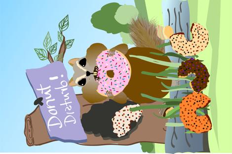 Donut Disturb Chipmunk fabric by mariastar on Spoonflower - custom fabric