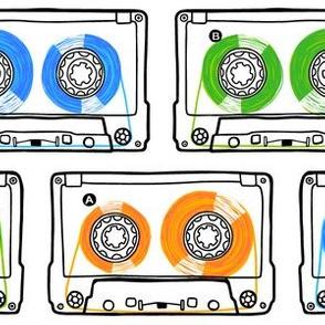 Doodle Tapes - Green, Orange, Blue