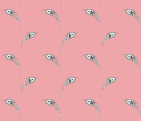 Peacock4.design.pink fabric by damiana_ on Spoonflower - custom fabric