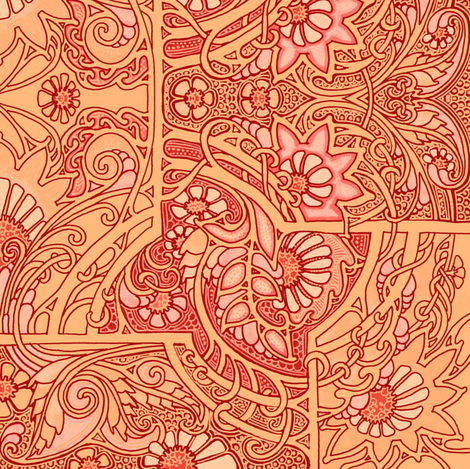 Have a Very Orange Day fabric by edsel2084 on Spoonflower - custom fabric