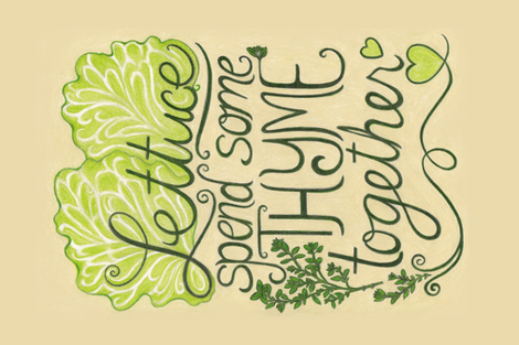 Lettuce Spend Some Thyme Together fabric by dunnspun on Spoonflower - custom fabric