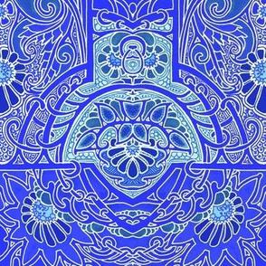 Ornately Swirling Blues