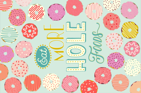 Eat More HOLE Foods fabric by katerhees on Spoonflower - custom fabric