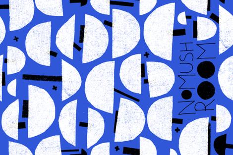 NoMushRoom M+M Cobalt by Friztin fabric by friztin on Spoonflower - custom fabric