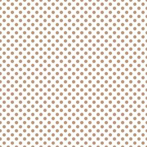 Sand ponies medium beige dot 1x1