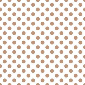 Sand ponies medium beige dot 2x2