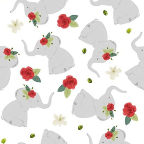 red rose elephant toss