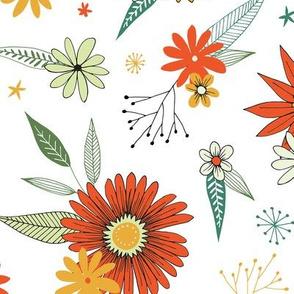 bright retro floral
