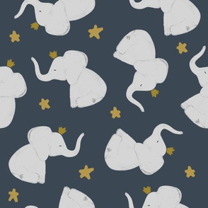 174-15 // stars + crowned elephant toss up