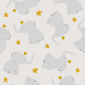 169-1 // stars + crowned elephant toss up