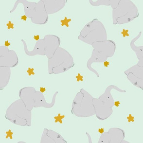 mint // stars + crowned elephant toss up