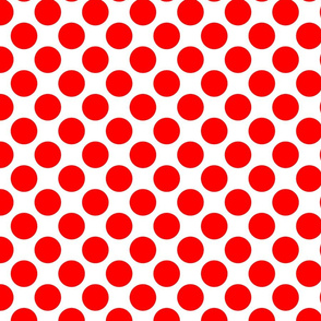 Red Circles Polka Dots