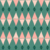 Pink & Green Triangles