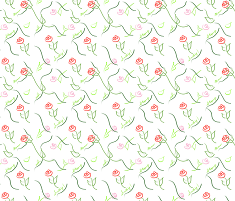 Stopping and Smelling fabric by teawithxanthe on Spoonflower - custom fabric