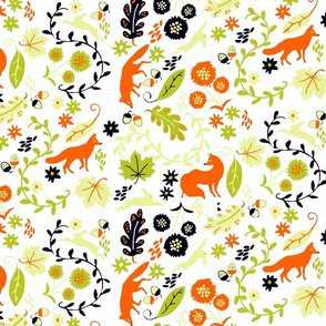 Woodland Whimsy Foxes & Rabbits