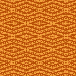 Saffron and Terra Cotta Waves of Fractal