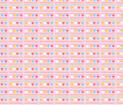 Triangle Party Bunting Garland Seamless Vector Pattern fabric by limolida on Spoonflower - custom fabric