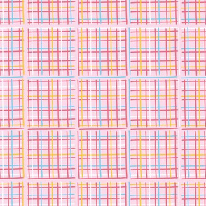 Criss Cross Weave Hand Drawn Vector Pattern Background