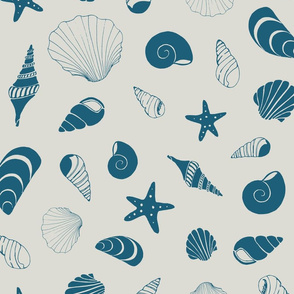 Blue and grey nautical pattern