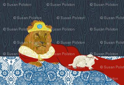 Lion and Lamb Tea Towel
