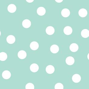 """6"""" polka dots - aqua"""