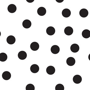 "6""  polka dots - black"