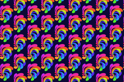Fun Flare on Blackberry - Large Scale fabric by rhondadesigns on Spoonflower - custom fabric