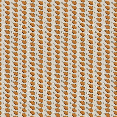 (micro scale) turkey legs - beige C18BS fabric by littlearrowdesign on Spoonflower - custom fabric