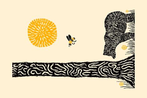 Bear fabric by gooloopi on Spoonflower - custom fabric