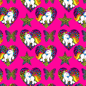 Pink Rainbow Unicorns Large