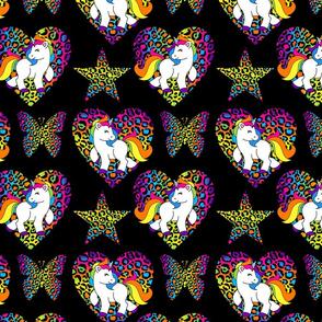 Black Rainbow Unicorns Large