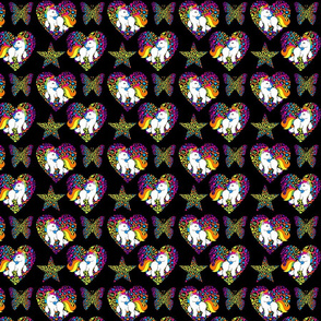 Black Rainbow Unicorns Small