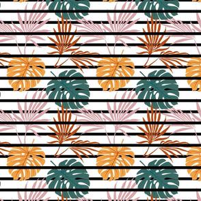 Palm Fronds & Stripes