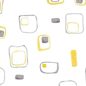 yellow grey retro shapes