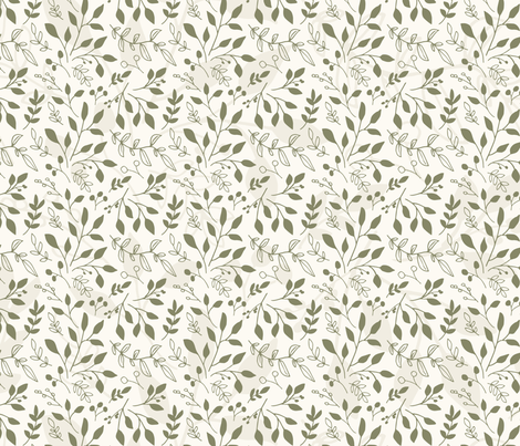 Woodland Contrasting Foliage (Small) fabric by floramoon on Spoonflower - custom fabric