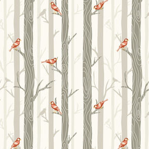 Woodland Forest of Birds (Large)
